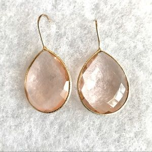 Jewelry - Morganite color Quartz Earrings
